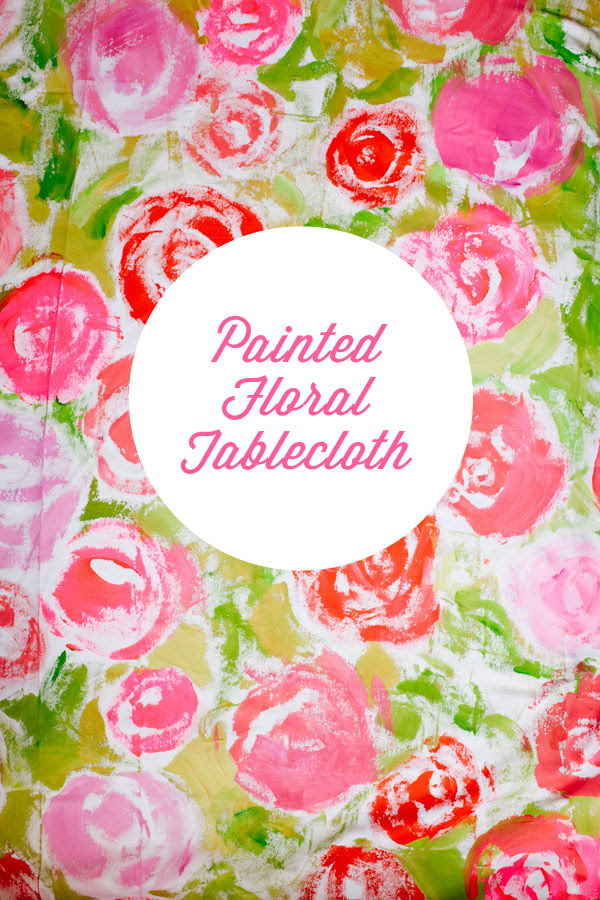 Painted Floral Tablecloth