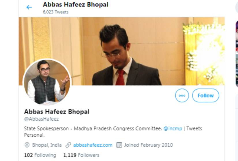 A screenshot of Abbas Hafeez's Twitter profile
