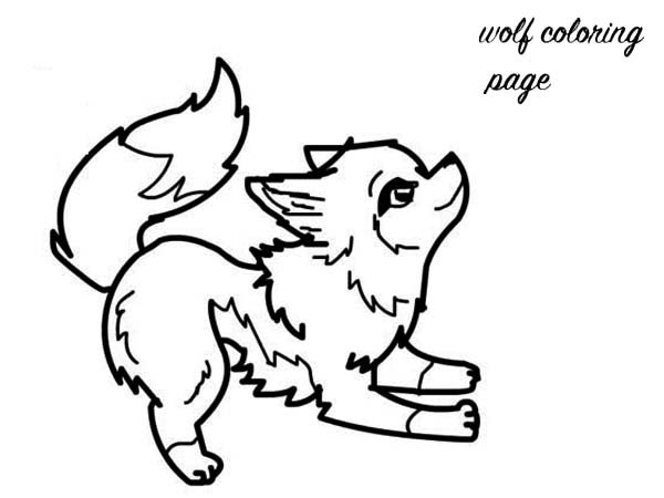 Baby Wolf Coloring Page - Download & Print Online Coloring ...