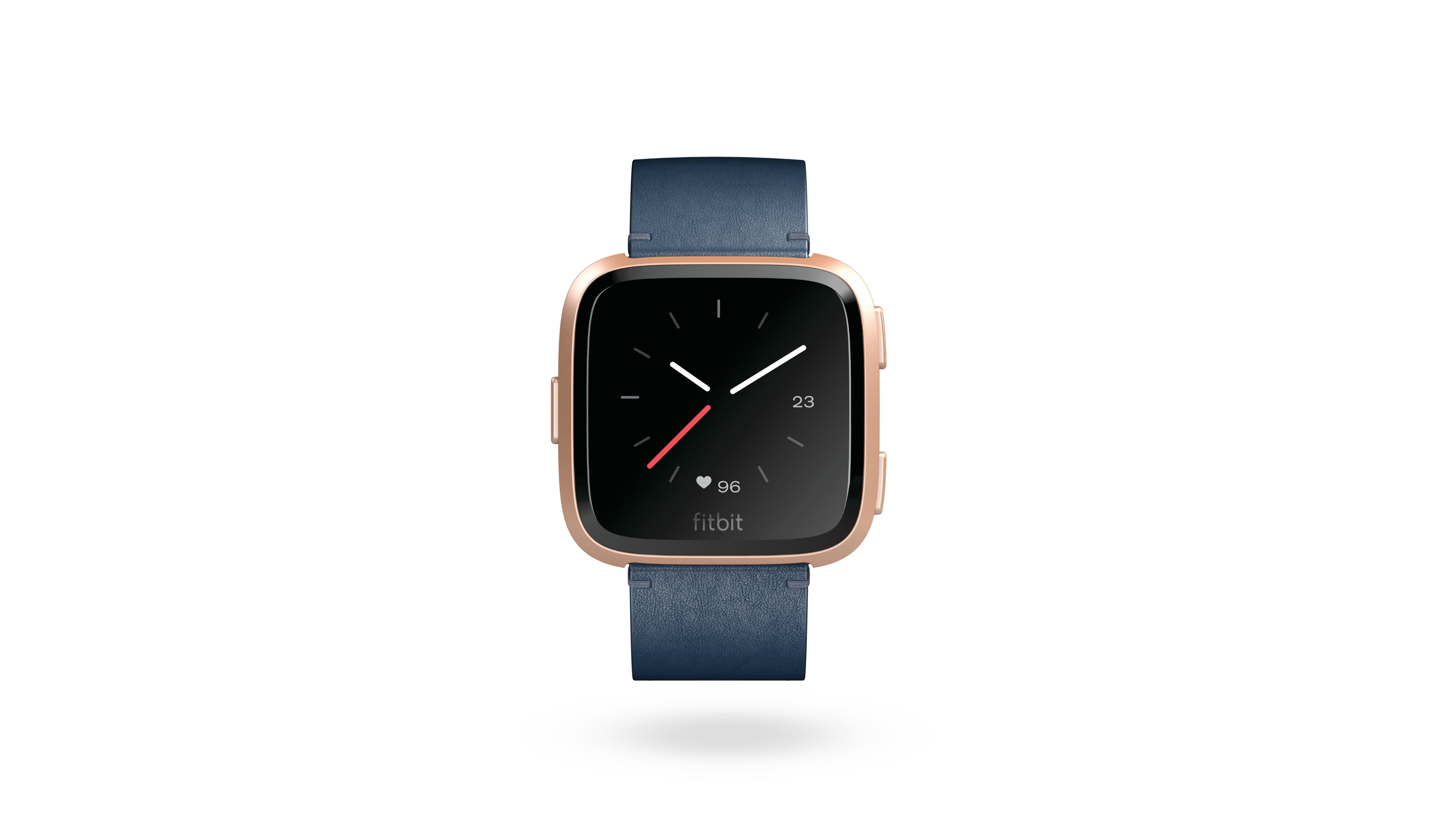 A midnight blue Fitbit Versa strap