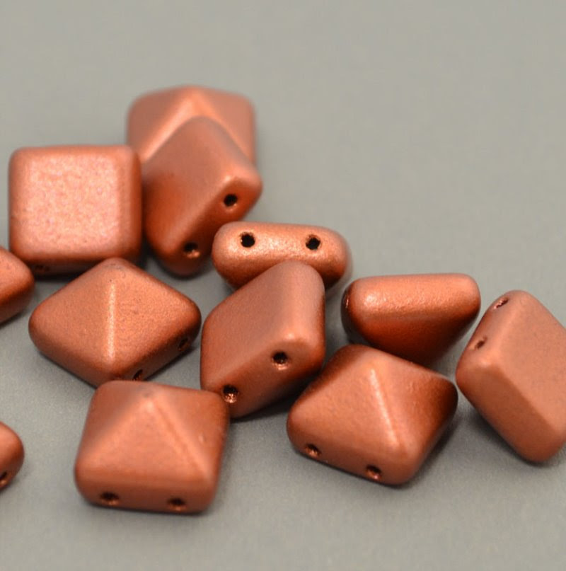 s40949 Glass Beads - 12 mm Bead Stud - Silky Old Copper (1)
