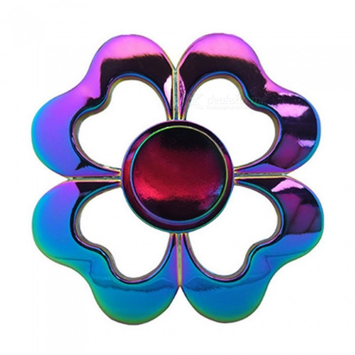 OJADE Rainbow Love Flowers Hand Spinner Fingertip Gyro Toy Free