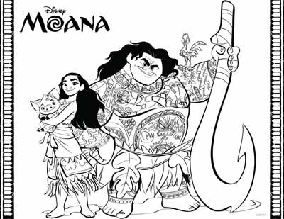 59 moana coloring pages updated may 2018