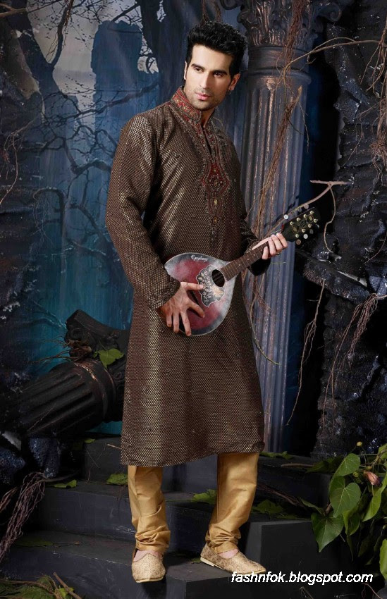 Kurta-Designs-Men-Male-New-Latest Silk-Kurta-Style-Design-3