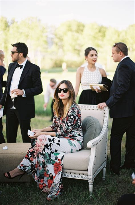 Outdoor Aspen Wedding   RECEPTION   Outdoor wedding guest