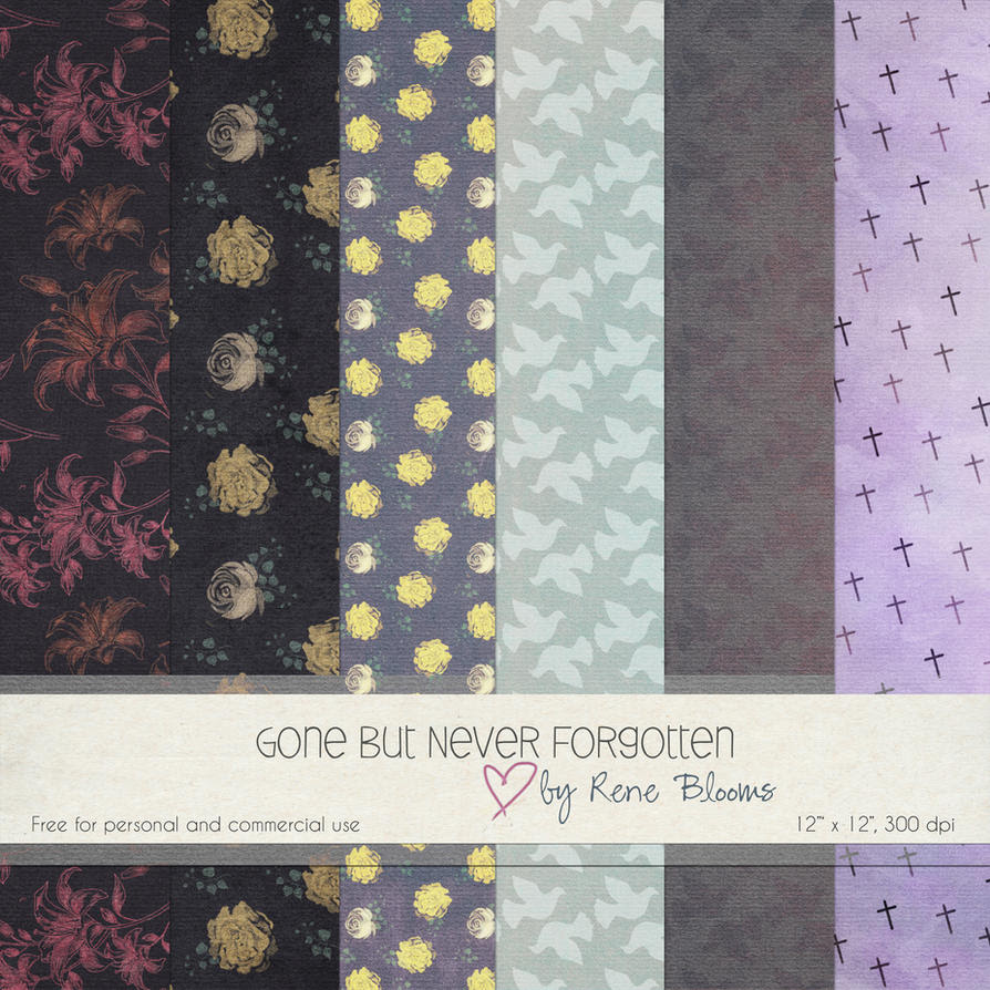 FREE Digital Paper in Memorium by SunnyFunLane
