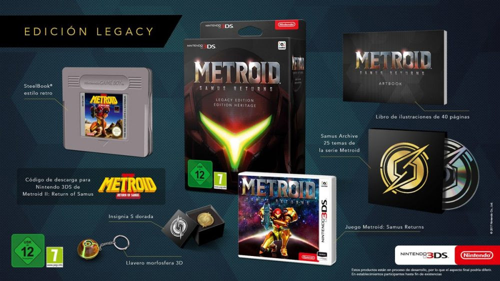 Metroid: Samus Returns has a fancy collector's edition in Europe screenshot
