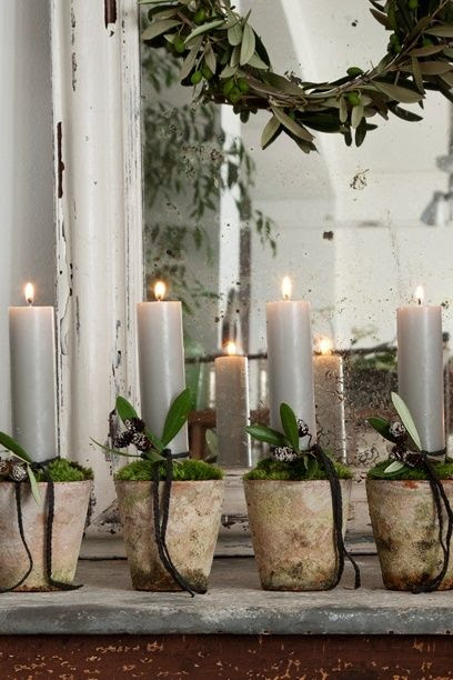 terracotta and candles...