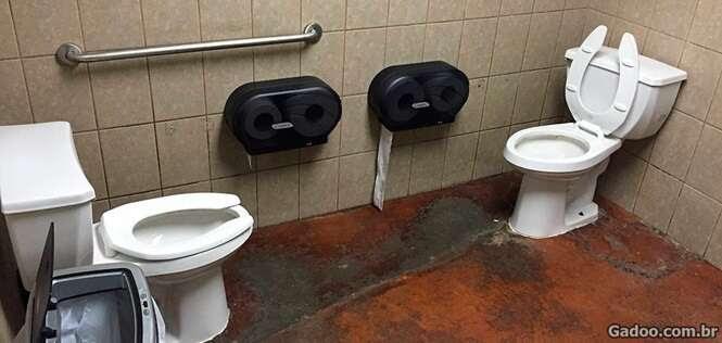 Banheiros que não foram criados por uma pessoa em sã consciência