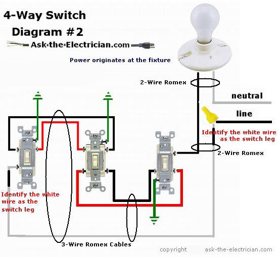 how to wire 4 way switch diagram image 9