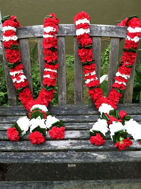 Traditional wedding hindu garlands.(red & white carnation