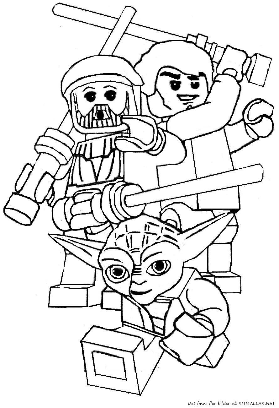 Download Lego star wars coloring pages to download and print for free
