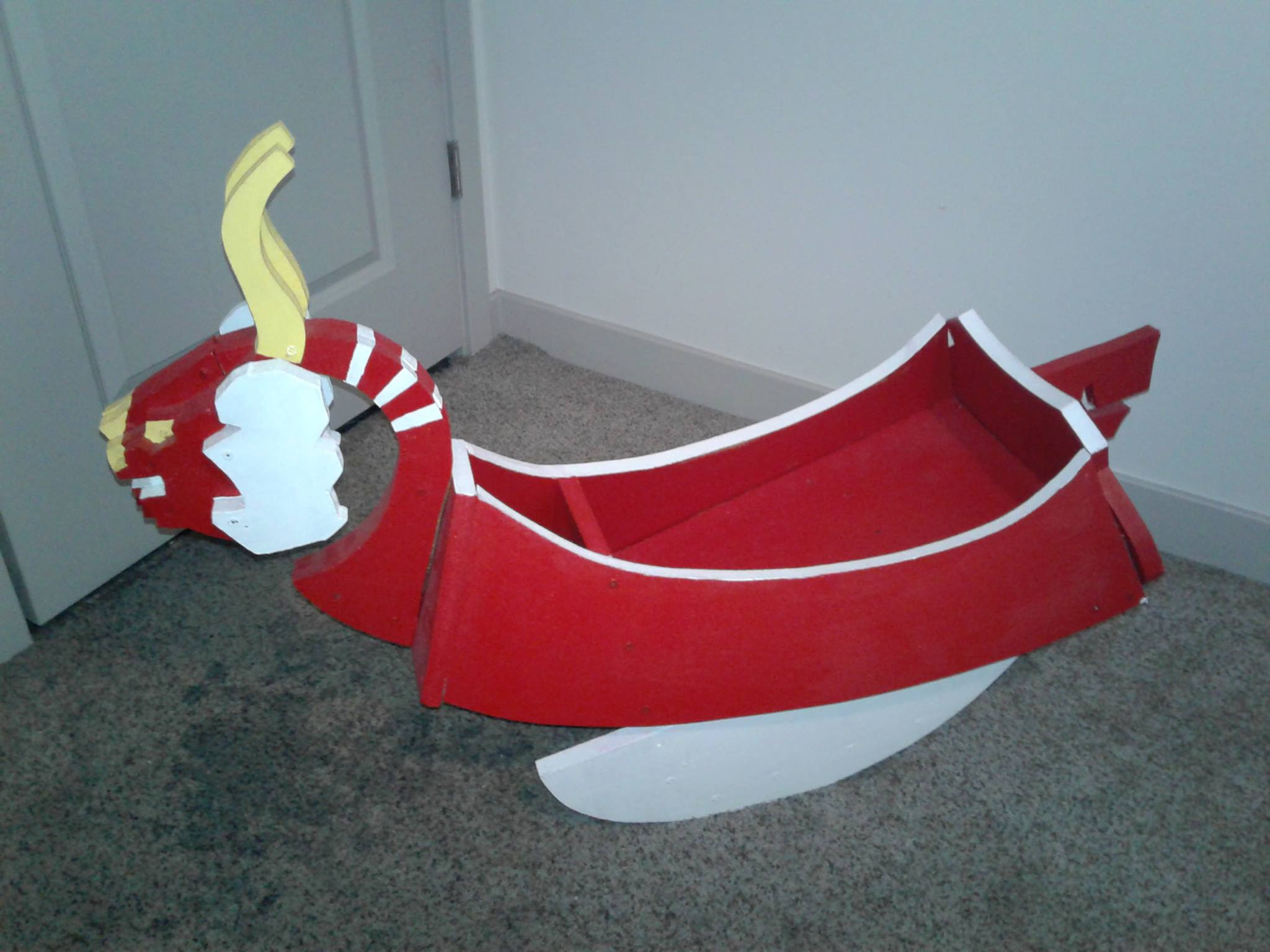 One amazing dad made this King of Red Lions Zelda rocking boat for his son screenshot
