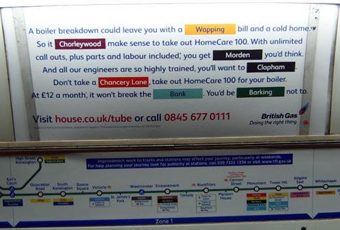 British Gas London Underground Ad