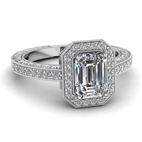 Square Halo Diamond Crossover Comfort Fit Ring With