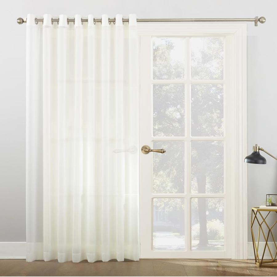 No 918 No 918 Emily 84 In Grommet Sliding Patio Door Curtain Panel In Ivory In The Curtains Drapes Department At Lowes Com