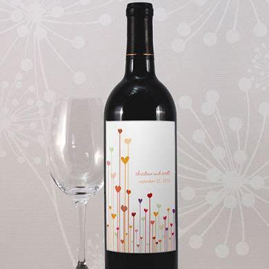 Hearts Wine Label   Confetti.co.uk