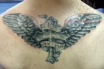 Cross Wings Memorial Tattoo