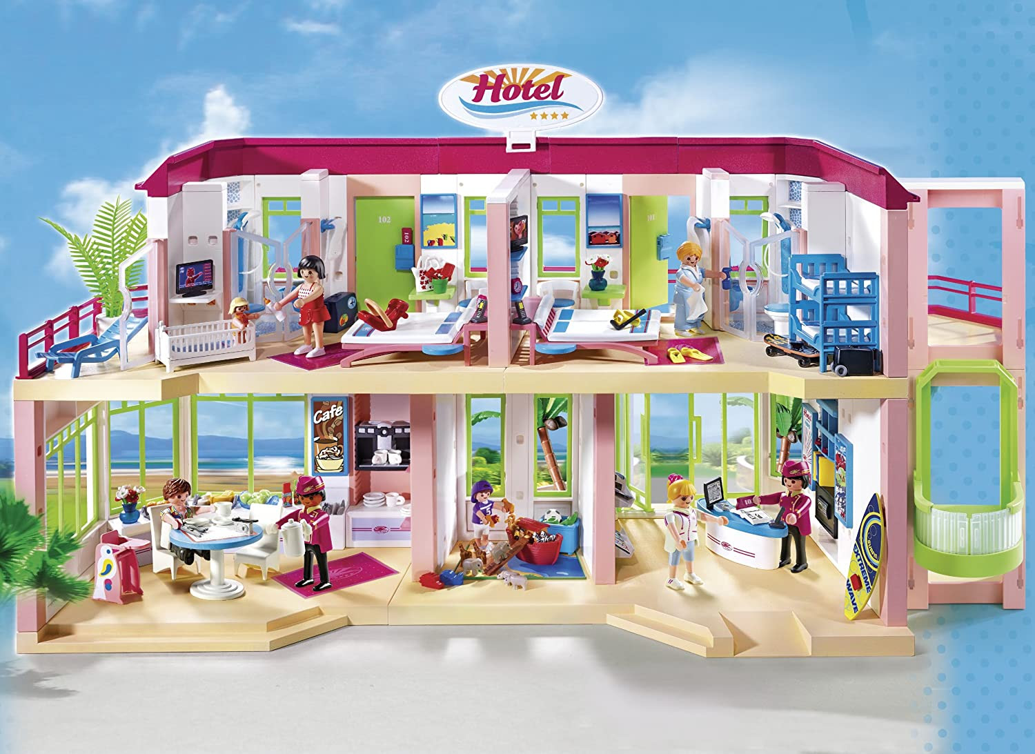 Playmobile Large Furnished Hotel