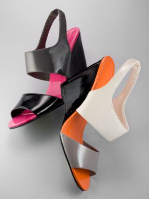 City Style Colorblock Wedge Sandals