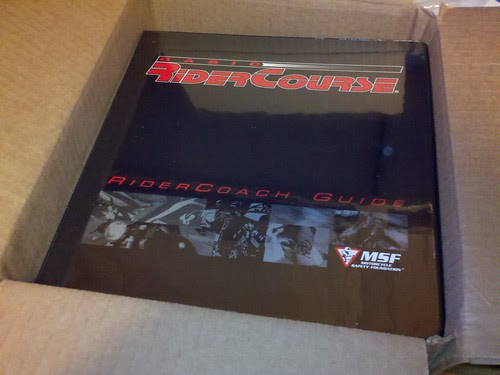 MSF RiderCoach guide book arrived. Ten more weeks until class!