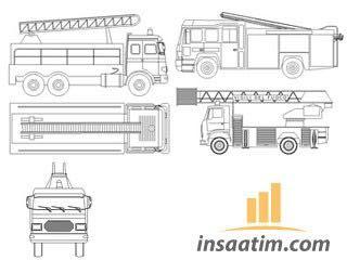 çizim Itfaiye Aracı çizimi Dwg Inşaatımcom