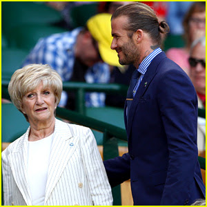 David Beckham Gives Mom the Royal Treatment at Wimbledon
