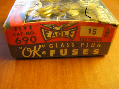 """Eagle """"OK"""" glass fuses"""