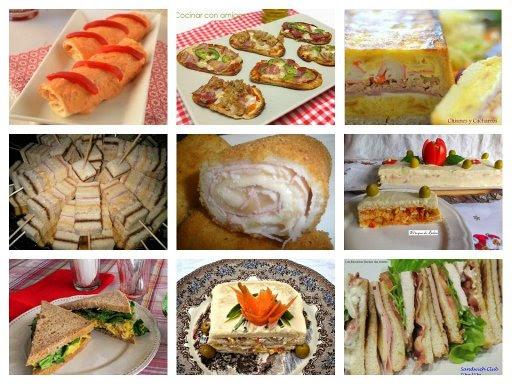 Platos rapidos con pan de molde