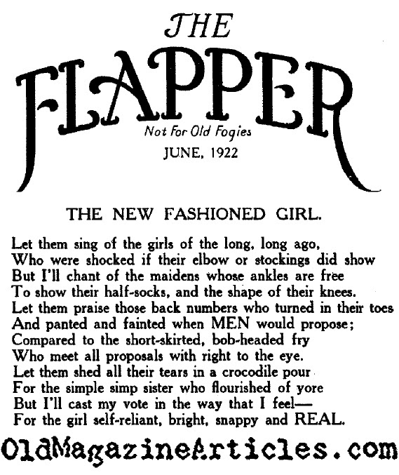 New Fashioned Girls (Flapper Magazine, 1922)