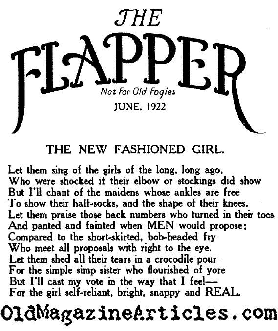 New Fashioned Girls (Flapper Magazine, 1922)