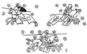 Fresque de chevaliers