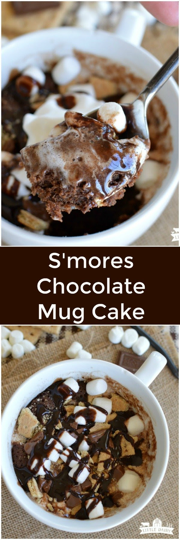 S'mores Chocolate Mug Cake - Little Dairy On the Prairie