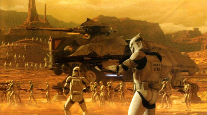 Clonetroopers go on the offensive in STAR WARS: EPISODE II - ATTACK OF THE CLONES.