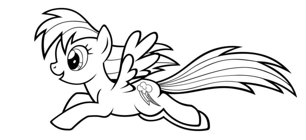 6100 Top Printable Coloring Pages Rainbow Dash For Free