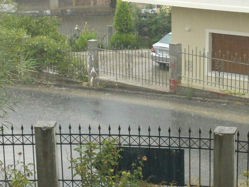rainy day in hania