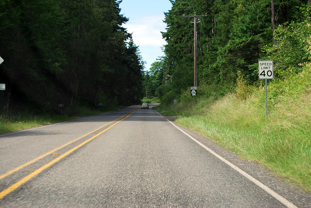 SR 116 on Marrowstone Island