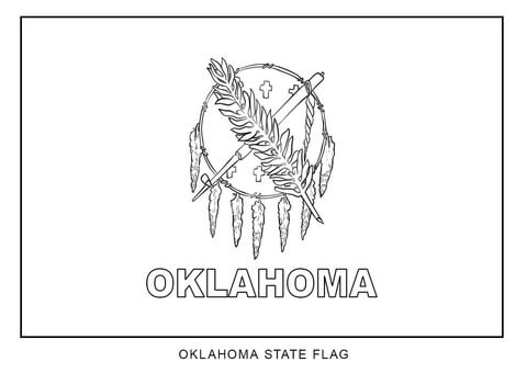 flag of oklahoma coloring page