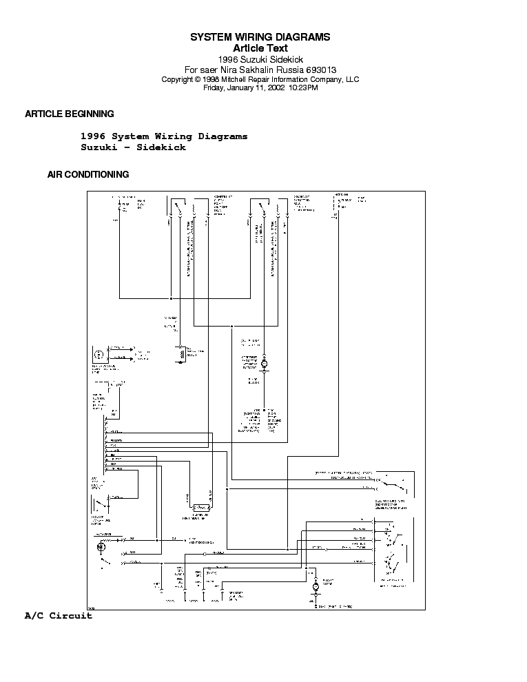 95 Suzuki Sidekick Wiring Diagram Wiring Diagram Instruct Instruct Cfcarsnoleggio It