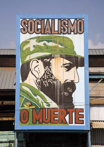 Cuban Stories: A billboard reads 'Socialism or death'