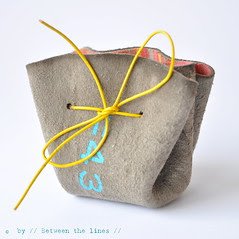 DIY drawstring coin purse