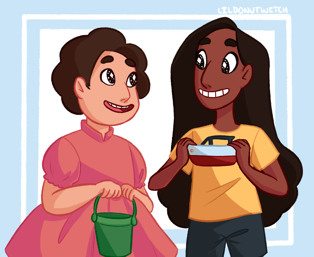 trying out new styles with a steven universe ponyo au!