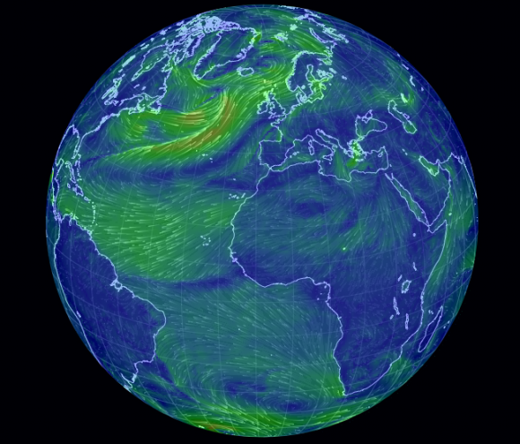 When Science is Art: a New Map of Wind Patterns