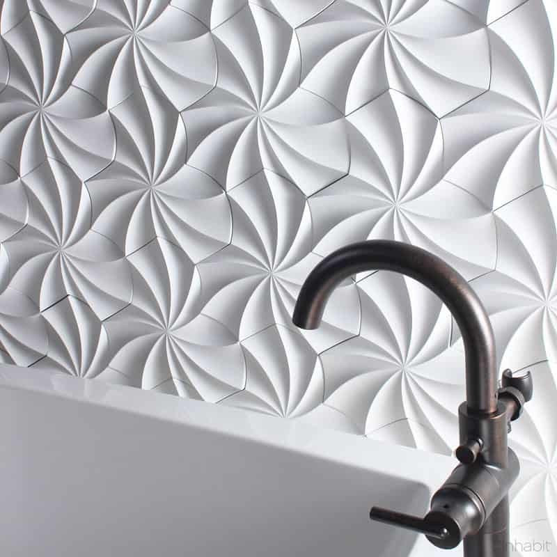 25 Spectacular 3D Wall Tile Designs To Boost Depth and Texture homesthetics ideas (23)
