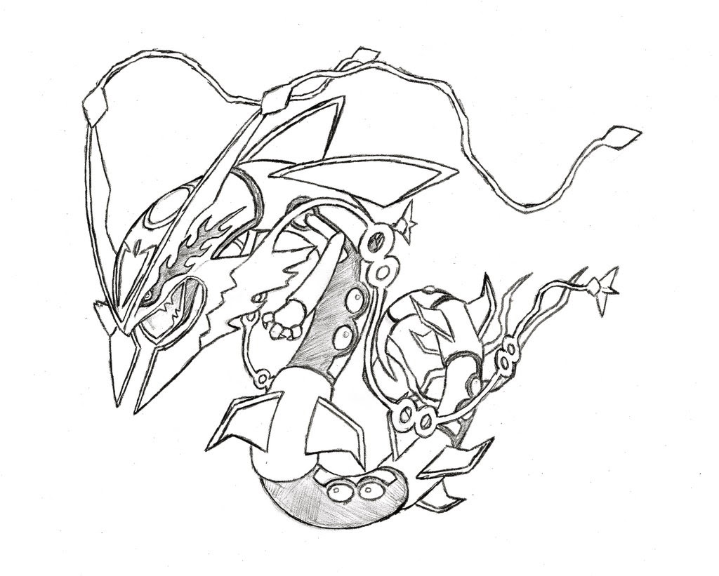 pokemon mega rayquaza coloring pages photo 17