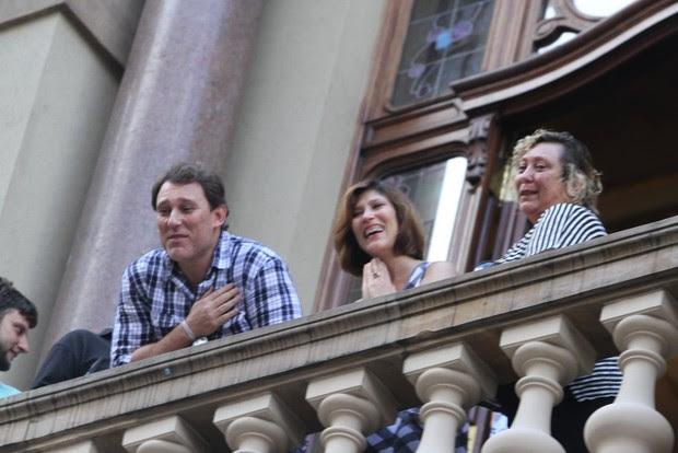 Filhos no velório do ator Paulo Goulart (Foto: Leo Franco e Thiago Duran / AgNews)