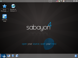 Sabayon Linux 4 KDE Live