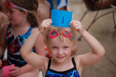 Lil'E on swim team
