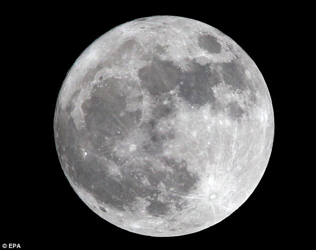 View of a full perigee moon over Manila, Philippines