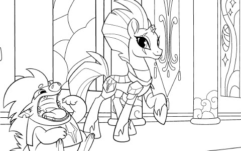 evil my little pony coloring pages